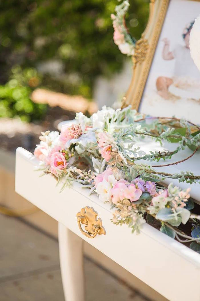 Floral crowns from a Whimsical Swan Soiree on Kara's Party Ideas | KarasPartyIdeas.com (17)