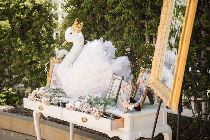 Highlight table from a Whimsical Swan Soiree on Kara's Party Ideas | KarasPartyIdeas.com (12)