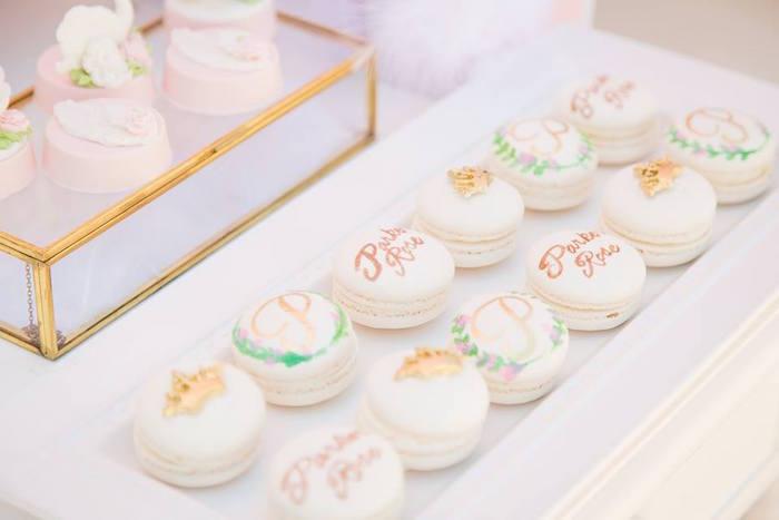 White macarons from a Whimsical Swan Soiree on Kara's Party Ideas | KarasPartyIdeas.com (10)