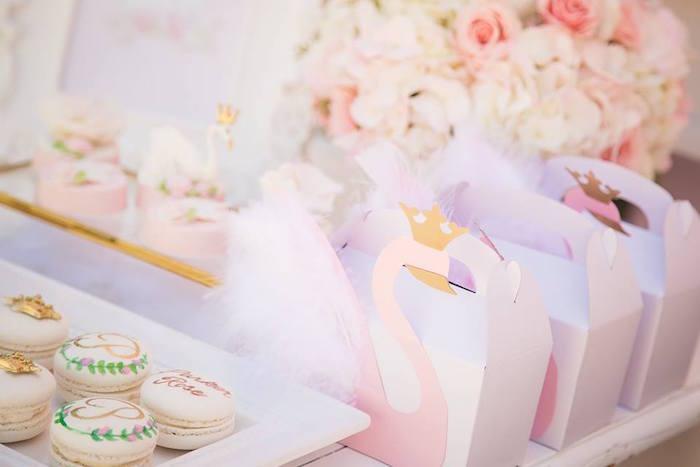 Swan favor box from a Whimsical Swan Soiree on Kara's Party Ideas | KarasPartyIdeas.com (9)