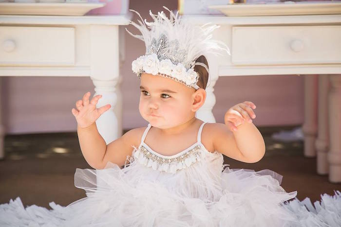 Swan outfit from a Whimsical Swan Soiree on Kara's Party Ideas | KarasPartyIdeas.com (29)