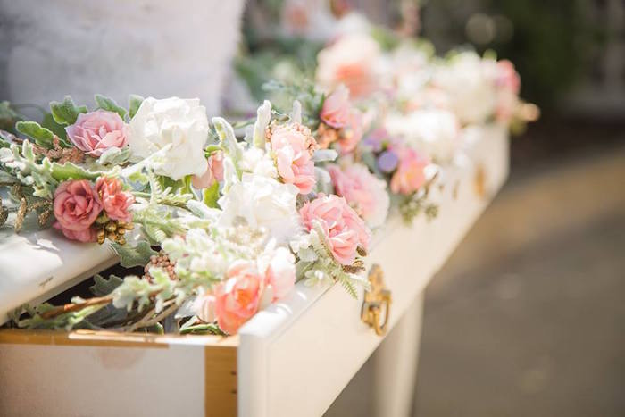 Blooms from a Whimsical Swan Soiree on Kara's Party Ideas | KarasPartyIdeas.com (27)