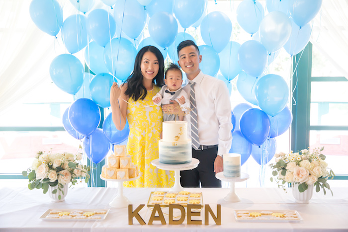 You Are My Sunshine Yellow & Blue Birthday Party on Kara's Party Ideas | KarasPartyIdeas.com (12)