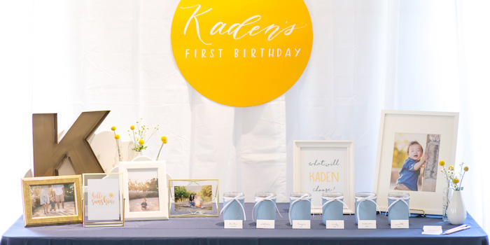 You Are My Sunshine Yellow & Blue Birthday Party on Kara's Party Ideas | KarasPartyIdeas.com (3)