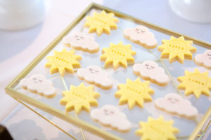 Cookies from a You Are My Sunshine Yellow & Blue Birthday Party on Kara's Party Ideas | KarasPartyIdeas.com (18)