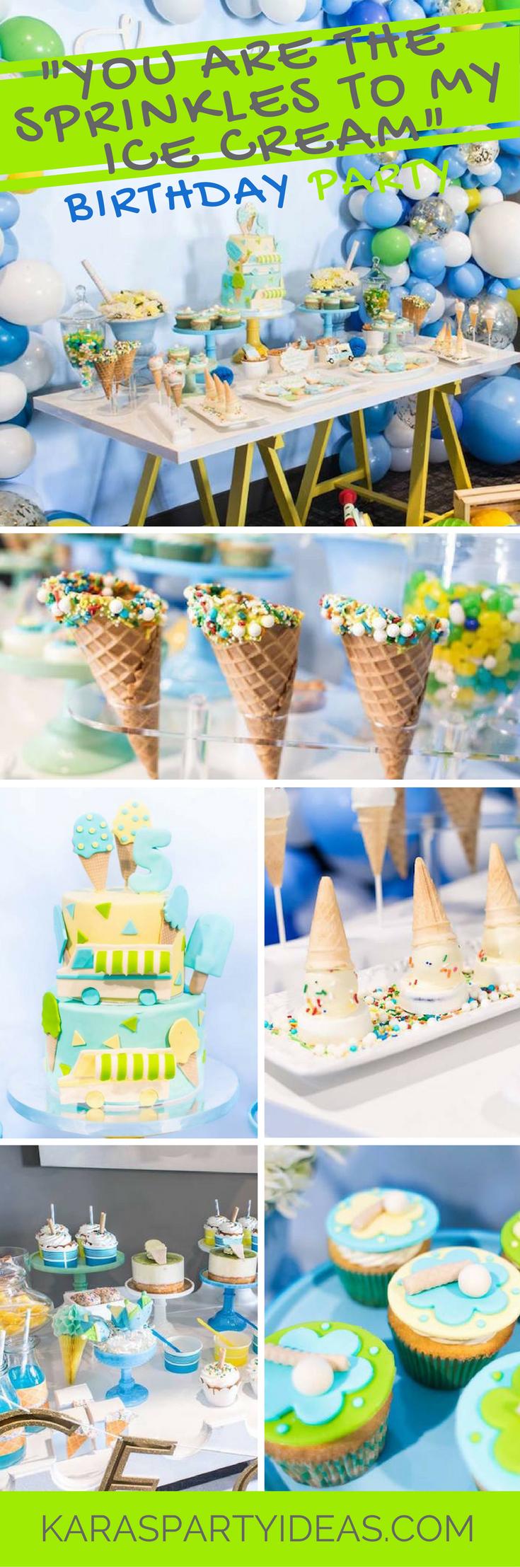 You are the Sprinkles to my Ice Cream Birthday Party via Kara's Party Ideas - KarasPartyIdeas.com
