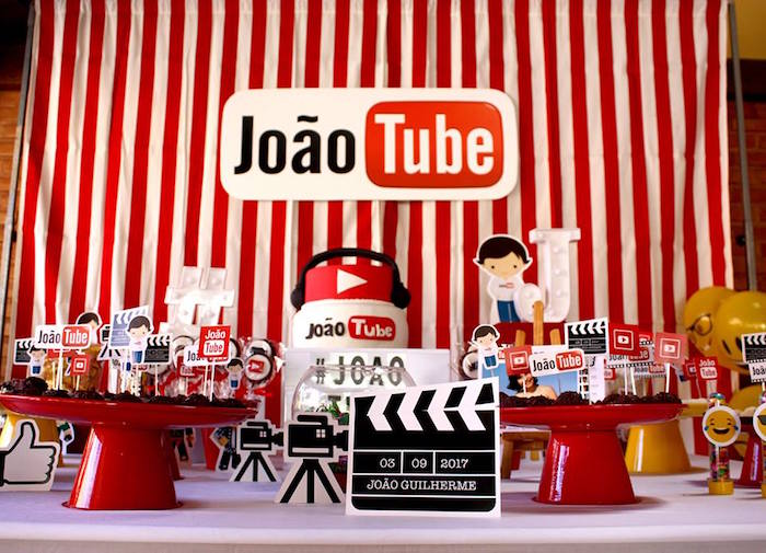 YouTube Themed Birthday Party on Kara's Party Ideas | KarasPartyIdeas.com (9)