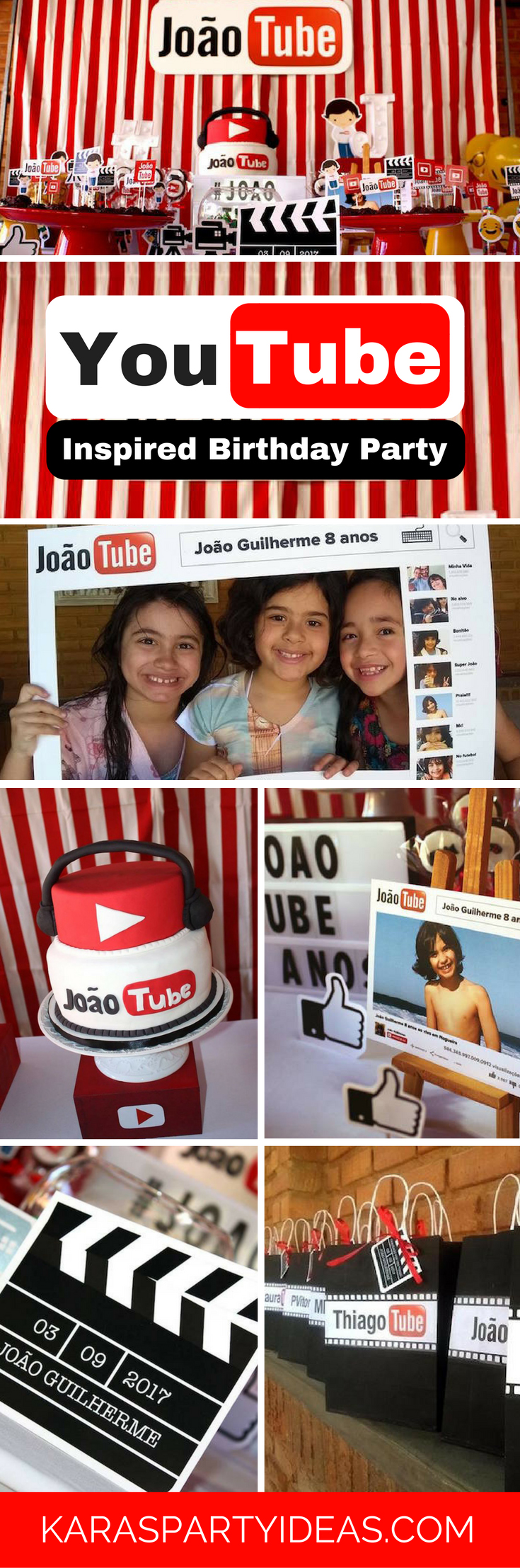 Youtube Themed Birthday Party via Kara's Party Ideas - KarasPartyIdeas.com