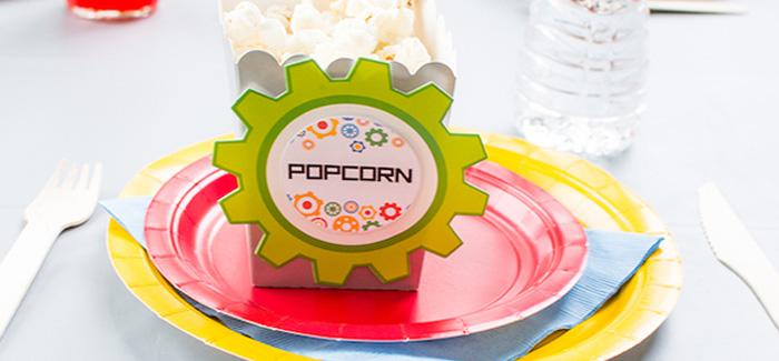 Colorful Robot Birthday Party on Kara's Party Ideas   KarasPartyIdeas.com