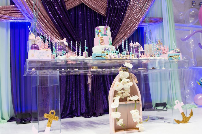 """Princess of the Sea"" Birthday Party on Kara's Party Ideas   KarasPartyIdeas.com (14)"