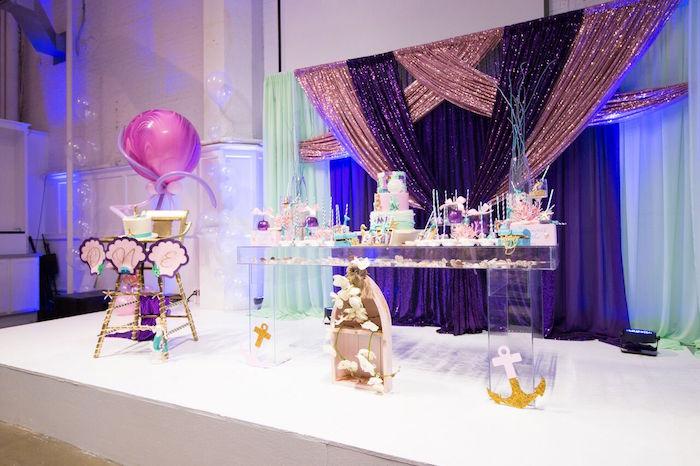 """Princess of the Sea"" Birthday Party on Kara's Party Ideas   KarasPartyIdeas.com (13)"
