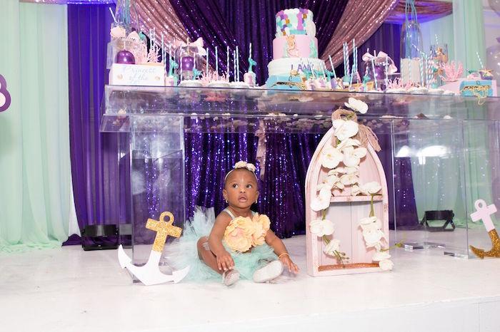 """Princess of the Sea"" Birthday Party on Kara's Party Ideas   KarasPartyIdeas.com (10)"