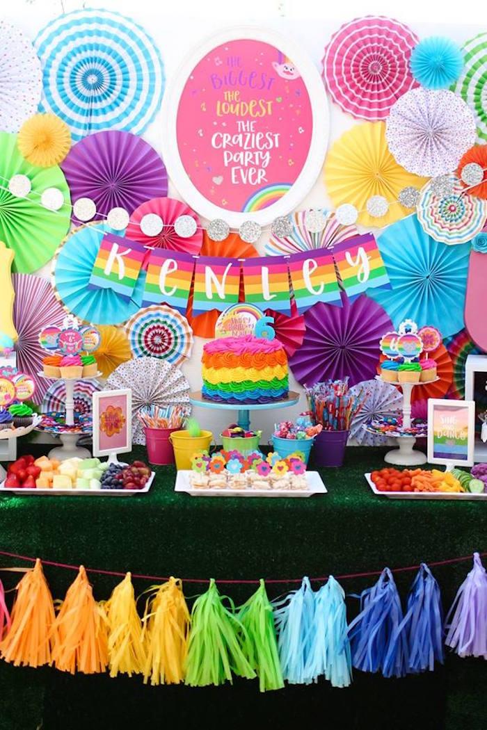 """Troll-tastic"" Trolls Birthday Party on Kara's Party Ideas | KarasPartyIdeas.com (29)"