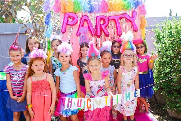 "Photo booth from a ""Troll-tastic"" Trolls Birthday Party on Kara's Party Ideas | KarasPartyIdeas.com (24)"