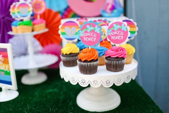 "Cupcakes from a ""Troll-tastic"" Trolls Birthday Party on Kara's Party Ideas | KarasPartyIdeas.com (7)"