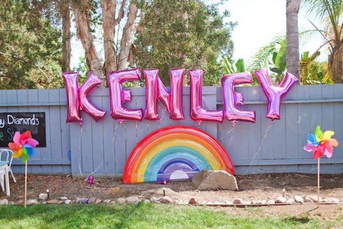 "Balloon decor from a ""Troll-tastic"" Trolls Birthday Party on Kara's Party Ideas | KarasPartyIdeas.com (41)"