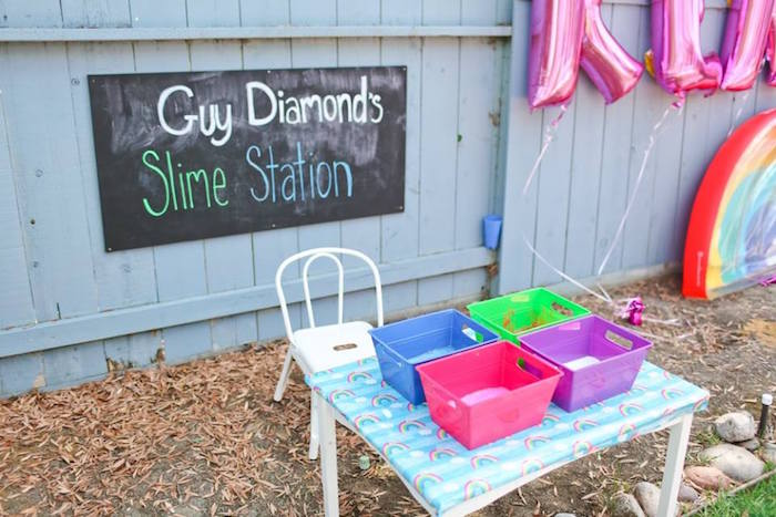 "Guy Diamonds Slime Station from a ""Troll-tastic"" Trolls Birthday Party on Kara's Party Ideas | KarasPartyIdeas.com (39)"