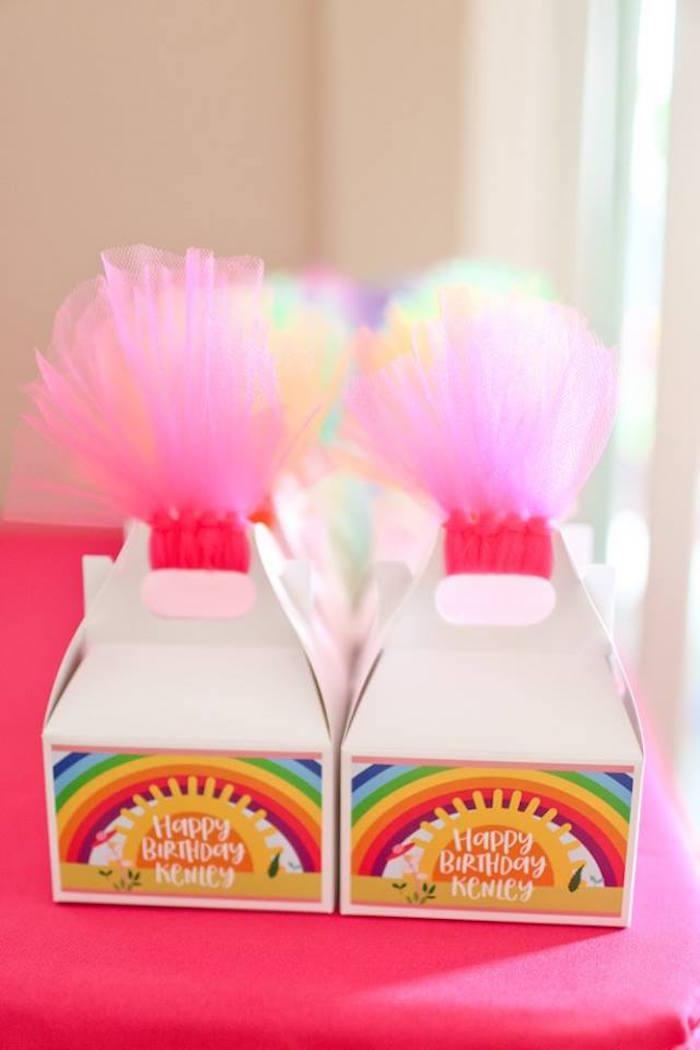 "Troll favor gable boxes from a ""Troll-tastic"" Trolls Birthday Party on Kara's Party Ideas | KarasPartyIdeas.com (38)"
