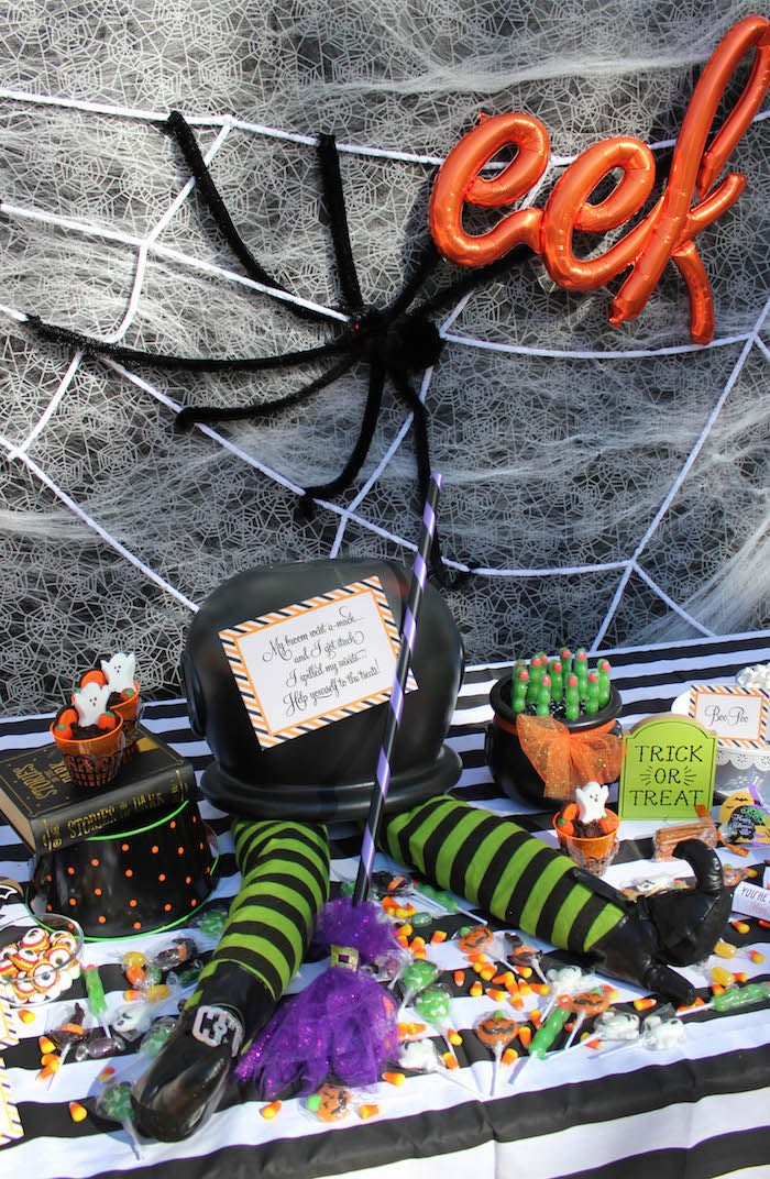 """""""Witches, Boos, & Spiders Too"""" Halloween Party for Kids on Kara's Party Ideas 