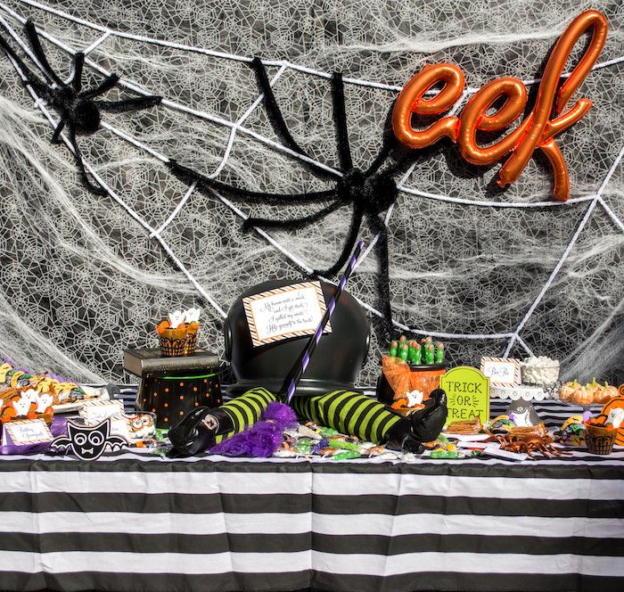 """Witches Sweet Table from a """"Witches, Boos, & Spiders Too"""" Halloween Party for Kids on Kara's Party Ideas 