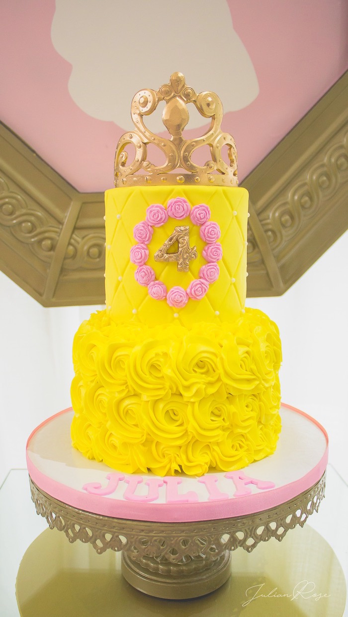 Belle Cake from a Belle's Tea Party on Kara's Party Ideas | KarasPartyIdeas.com (8)