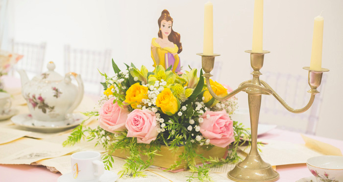 Belle's Tea Party on Kara's Party Ideas | KarasPartyIdeas.com (2)