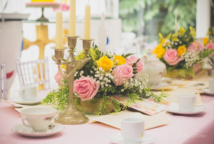 Guest tablescape from a Belle's Tea Party on Kara's Party Ideas | KarasPartyIdeas.com (18)