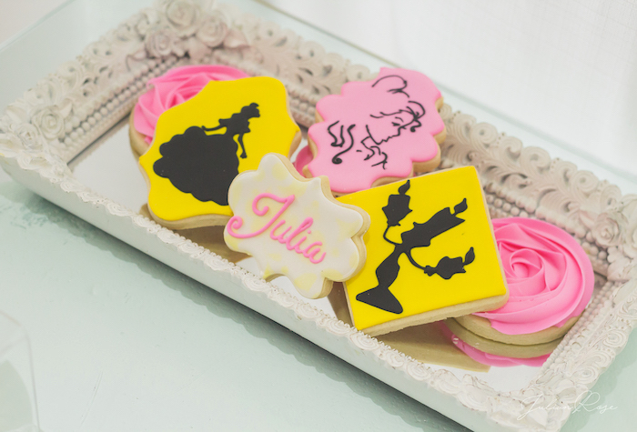 Beauty & the Beast themed Cookies from a Belle's Tea Party on Kara's Party Ideas | KarasPartyIdeas.com (16)