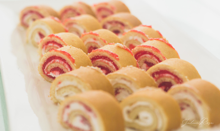 Dessert rolls from a Belle's Tea Party on Kara's Party Ideas | KarasPartyIdeas.com (14)