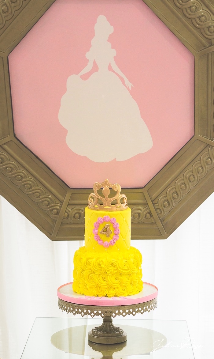Belle Cake from a Belle's Tea Party on Kara's Party Ideas | KarasPartyIdeas.com (13)