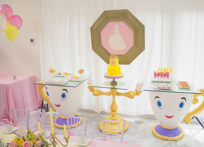 Dessert spread from a Belle's Tea Party on Kara's Party Ideas | KarasPartyIdeas.com (11)