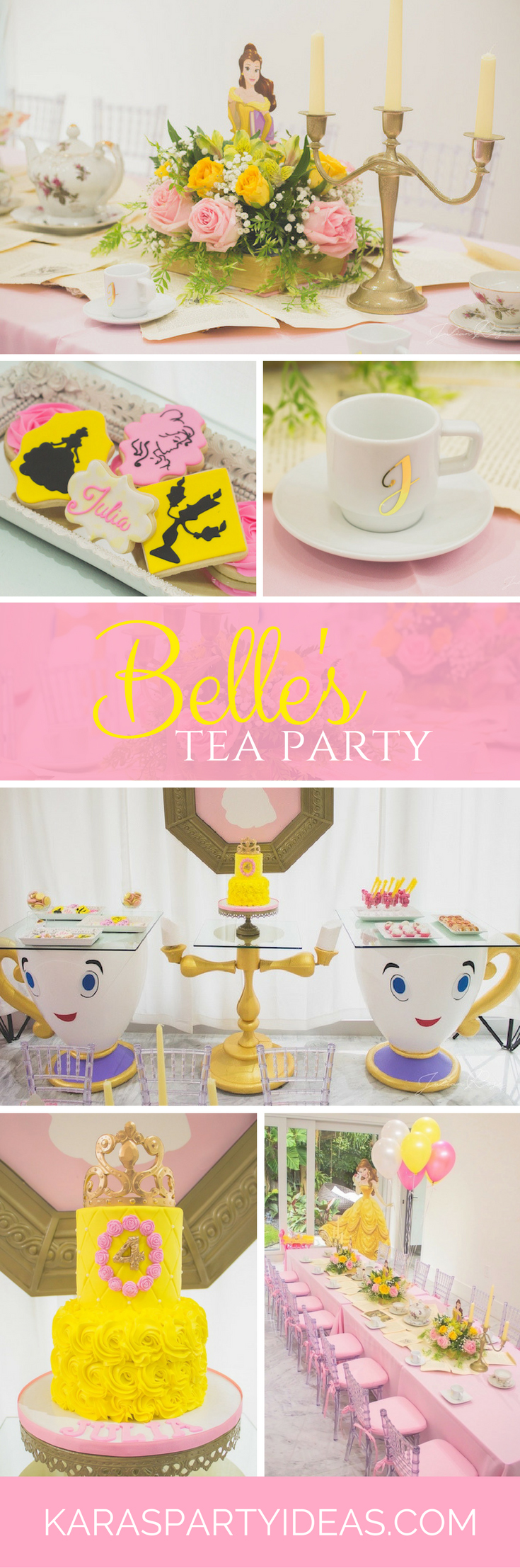 Belle's Tea Party via Kara's Party Ideas - KarasPartyIdeas.com