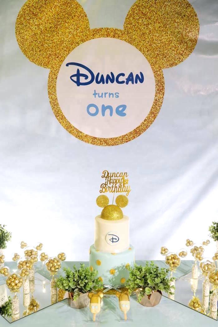 Blue & Gold Mickey Mouse Birthday Party on Kara's Party Ideas | KarasPartyIdeas.com (12)