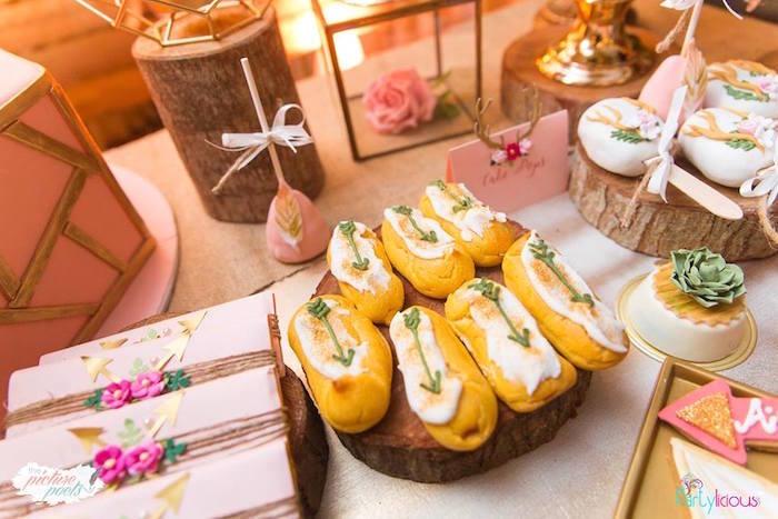 Boho Twinkies and treats from a Bohemian Coachella Birthday Party on Kara's Party Ideas | KarasPartyIdeas.com (33)