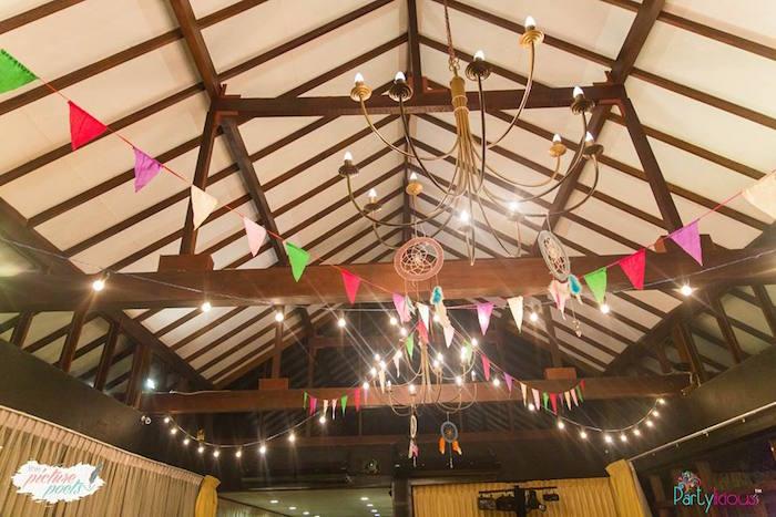 Ceilingscape from a Bohemian Coachella Birthday Party on Kara's Party Ideas | KarasPartyIdeas.com (25)