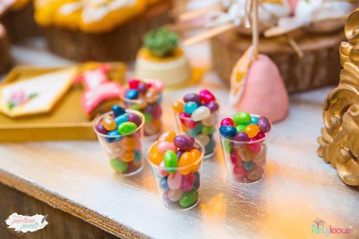 Candy cups from a Bohemian Coachella Birthday Party on Kara's Party Ideas | KarasPartyIdeas.com (19)