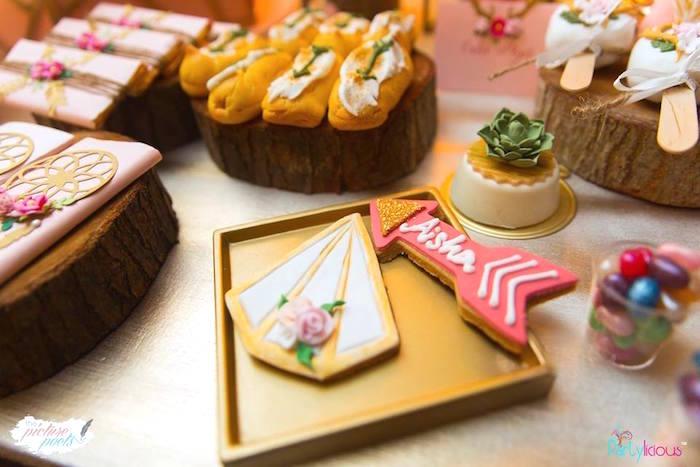 Cookies from a Bohemian Coachella Birthday Party on Kara's Party Ideas | KarasPartyIdeas.com (12)