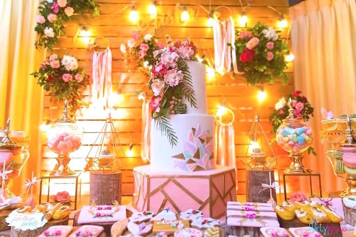 Bohemian Coachella Birthday Party on Kara's Party Ideas | KarasPartyIdeas.com (46)