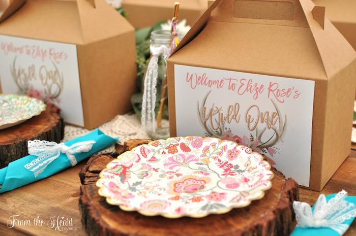 Boho place setting from a Boho Dream 1st Birthday Party on Kara's Party Ideas | KarasPartyIdeas.com (29)