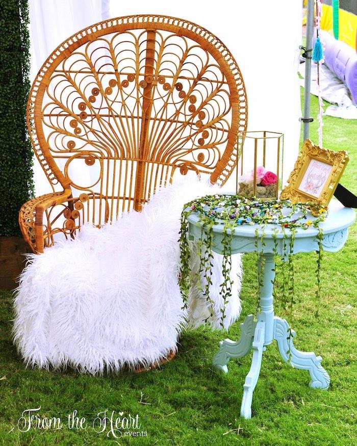 Boho lounge from a Boho Dream 1st Birthday Party on Kara's Party Ideas | KarasPartyIdeas.com (27)