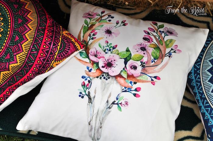 Bohemian pillows from a Boho Dream 1st Birthday Party on Kara's Party Ideas | KarasPartyIdeas.com (26)