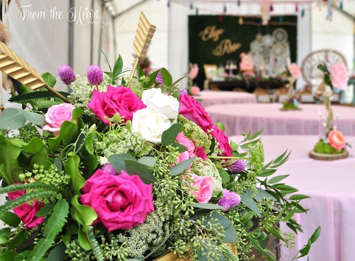 Bohemian blooms from a Boho Dream 1st Birthday Party on Kara's Party Ideas | KarasPartyIdeas.com (22)