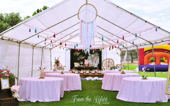 Guest Tables Partyscape From A Boho Dream 1st Birthday Party On Karas Ideas