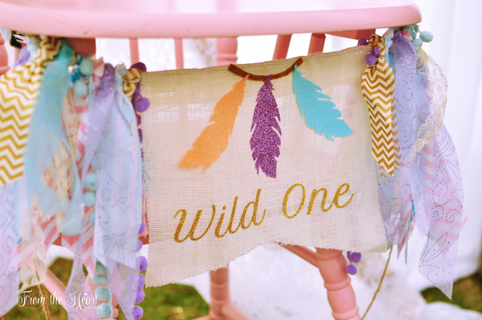 Wild One high chair banner from a Boho Dream 1st Birthday Party on Kara's Party Ideas | KarasPartyIdeas.com (8)