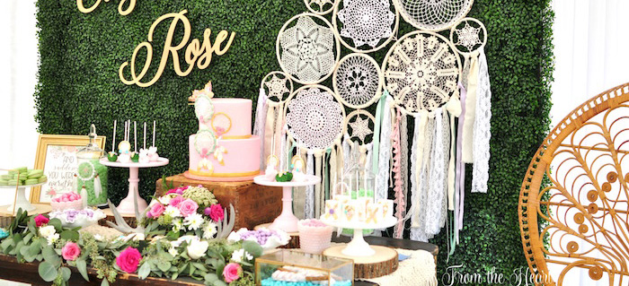 Boho Dream 1st Birthday Party on Kara's Party Ideas | KarasPartyIdeas.com (3)