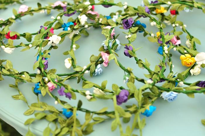 Floral crowns from a Boho Dream 1st Birthday Party on Kara's Party Ideas | KarasPartyIdeas.com (31)