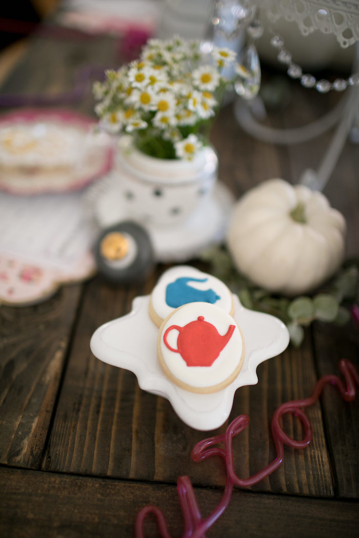 Tea kettle cookies from a Chic Fall Garden Tea Party on Kara's Party Ideas   KarasPartyIdeas.com (16)