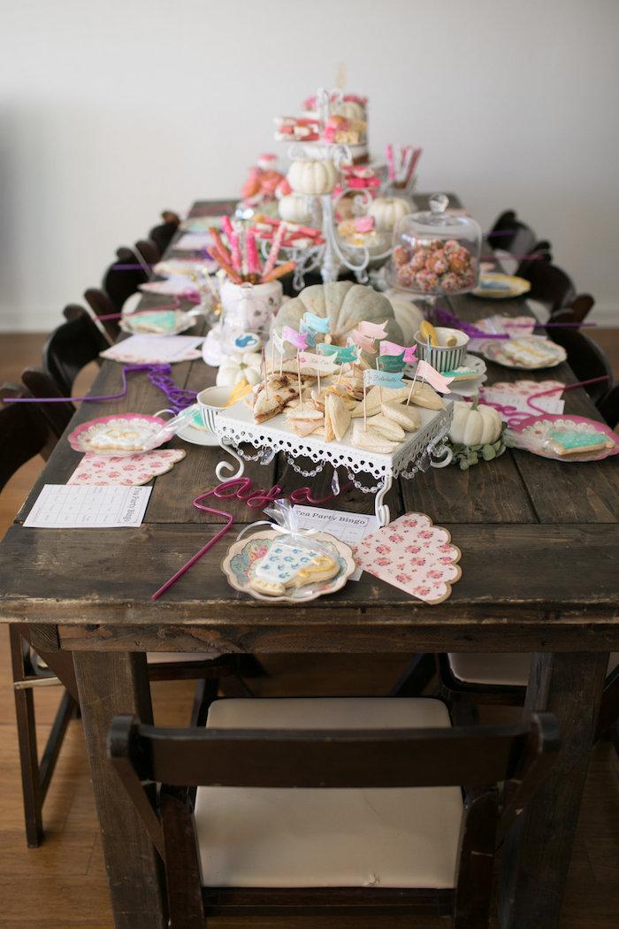 Party tablescape from a Chic Fall Garden Tea Party on Kara's Party Ideas   KarasPartyIdeas.com (13)