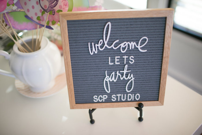 Welcome letter board from a Chic Fall Garden Tea Party on Kara's Party Ideas   KarasPartyIdeas.com (32)