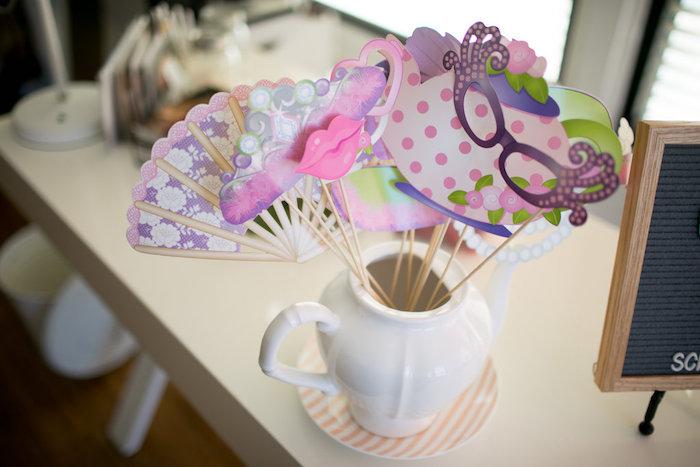 Photo prop sticks from a Chic Fall Garden Tea Party on Kara's Party Ideas   KarasPartyIdeas.com (31)